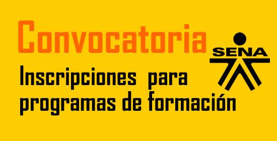 Inscripciones SENA IV convocatoria 2016